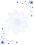 Pagina con i fiori blu Immagine Stock Libera da Diritti