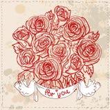 Pagina con i fiori e le farfalle Royalty Illustrazione gratis