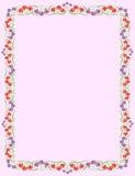 Pagina con i fiori minuscoli Fotografie Stock