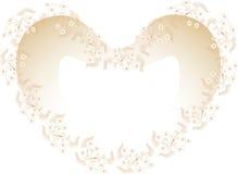 Pagina con i fiori. in un Frame.Card heart-shaped. Fotografia Stock Libera da Diritti