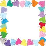 Pagina con i fogli colorati Immagine Stock