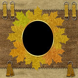Pagina con i fogli di autunno Fotografia Stock Libera da Diritti