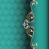 Pagina con i gioielli e progettazioni geometriche in oro royalty illustrazione gratis