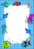 Pagina con i pesci Fotografie Stock Libere da Diritti