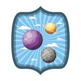 Pagina con i pianeti del sistema solare illustrazione di stock