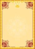 Pagina con il disegno ornamentale Immagini Stock Libere da Diritti