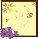 Pagina con il fiore Fotografia Stock