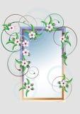 Pagina con il fiore di ciliegia. Card.Frame Fotografia Stock