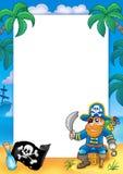 Pagina con il pirata 1 Immagine Stock