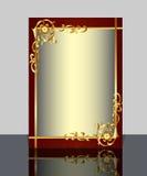 Pagina con il reticolo e la riflessione dell'oro (en) Immagine Stock