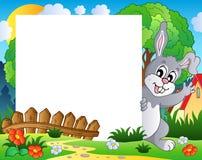 Pagina con il tema 1 del coniglietto di pasqua Immagine Stock Libera da Diritti