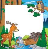 Pagina con il tema 1 della foresta Immagini Stock