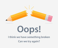 Pagina con l'errore 404 Immagine Stock