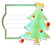 Pagina con l'natale-albero Fotografie Stock