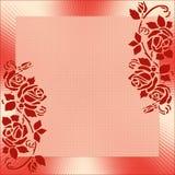 Pagina con l'ornamento di rosa illustrazione vettoriale