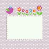 Pagina con l'uccello illustrazione di stock