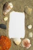 Pagina con la decorazione del mare Fotografia Stock