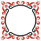 Pagina con la decorazione ungherese di motivi Immagine Stock