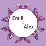 Pagina con le farfalle, disegno della mano royalty illustrazione gratis