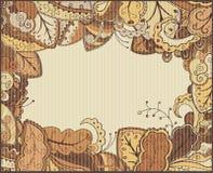 Pagina con le foglie di autunno. Illustrazione Vettoriale