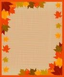 Pagina con le foglie di autunno Fotografie Stock Libere da Diritti