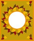 Pagina con le foglie di autunno illustrazione di stock