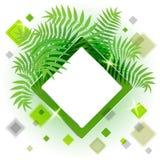 Pagina con le foglie per il vostro messaggio Fotografia Stock