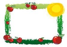 Pagina con le mele illustrazione di stock