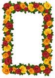 Pagina con le rose rosse e gialle. Fotografie Stock Libere da Diritti