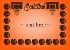 Pagina con pallacanestro Fotografia Stock