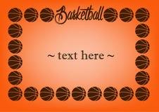 Pagina con pallacanestro Immagine Stock