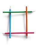 Pagina costruita dalle matite colorate Fotografie Stock Libere da Diritti
