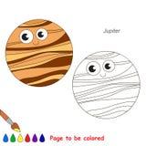 Pagina da colorare, gioco semplice di istruzione per i bambini Immagini Stock