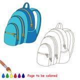 Pagina da colorare, gioco semplice di istruzione per i bambini Illustrazione Vettoriale
