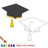 Pagina da colorare, gioco semplice di istruzione per i bambini Immagine Stock