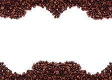 Pagina dai chicchi di caffè Fotografia Stock