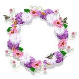 Pagina dalla cartolina d'auguri dei fiori Fotografia Stock