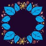 Pagina dalle foglie e dai fiori multicolori Fotografia Stock Libera da Diritti