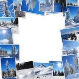 Pagina dalle foto della montagna Fotografia Stock