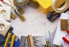Pagina degli strumenti per riparare Fotografia Stock