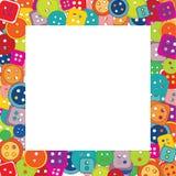 Pagina dei bottoni per i bambini Fotografie Stock