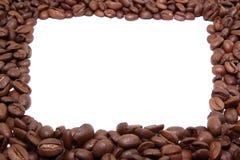 Pagina dei chicchi di caffè Immagine Stock Libera da Diritti