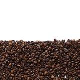 Pagina dei chicchi di caffè Fotografia Stock Libera da Diritti