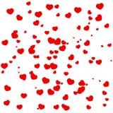 Pagina dei cuori rossi il giorno del ` s del biglietto di S. Valentino illustrazione vettoriale