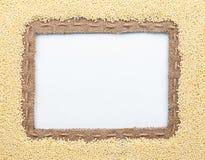 Pagina dei fagioli del miglio e della tela da imballaggio Fotografie Stock Libere da Diritti