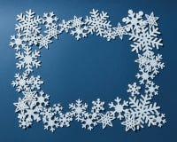 Pagina dei fiocchi di neve di Natale Fotografia Stock Libera da Diritti
