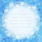 Pagina dei fiocchi di neve su un fondo dell'acquerello royalty illustrazione gratis