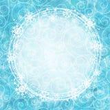Pagina dei fiocchi di neve su un fondo dell'acquerello illustrazione vettoriale