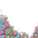 Pagina dei fiori Fotografie Stock Libere da Diritti