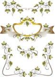 Pagina dei fogli dell'uva. Reticolo Fotografie Stock